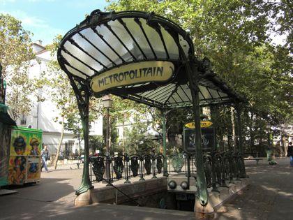 メトロ12号線 アベス/Abbesses駅 入口パリ観光 メイン コンテンツ  西洋美術史についてフランスパリ観光情報